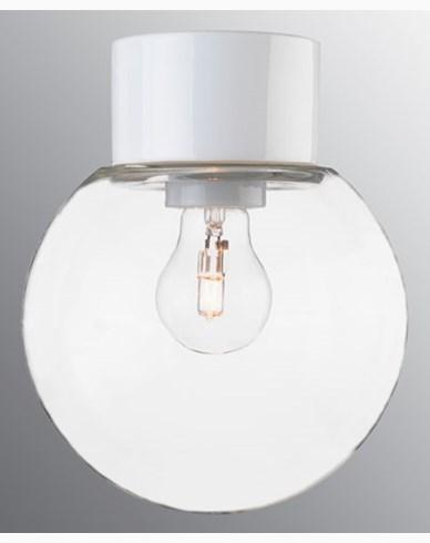 Ifö Electric Classic Glob rak Ø180 mm Vit