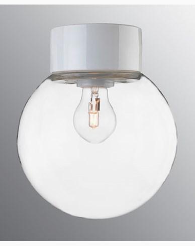 Ifö Electric Classic Glob rak Ø200 mm Hvit