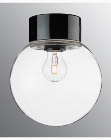 Ifö Electric Classic Glob rak Ø200 mm Svart
