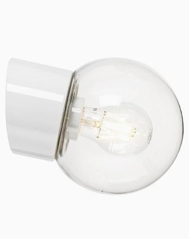 Ifö Electric Classic Glob skrå klar glass Ø150 mm Hvit