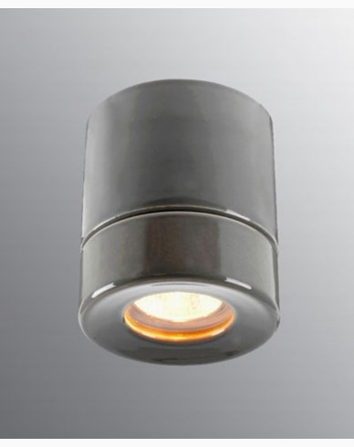 Ifö Electric Light On BADSTUE Downlight Grå IP44 max 35W GU10