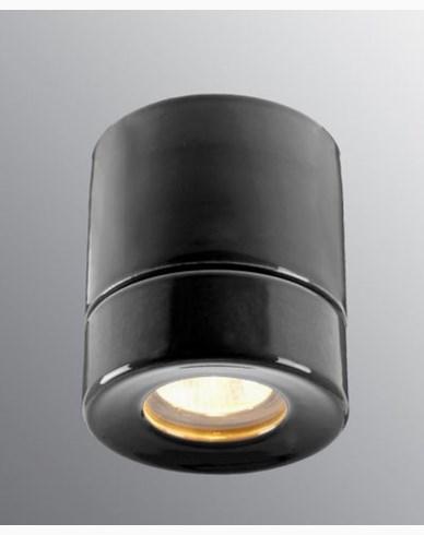 Ifö Electric Light On BADSTUE Downlight Sort IP44 max 35W GU10