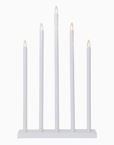 Star Trading HOLY lysestake i tre, hvit, 5 metallrør. E10