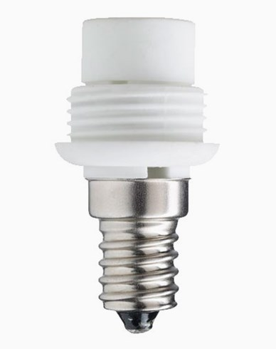 Lampsockel/adapter porslin, E14/G9 (liten). 6513