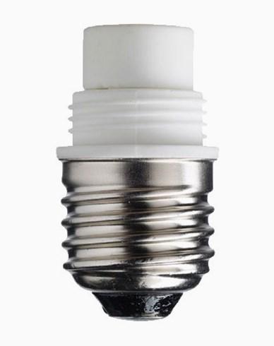 Lampsokkel/adapter porselen, E27/G9 (stor). 6514