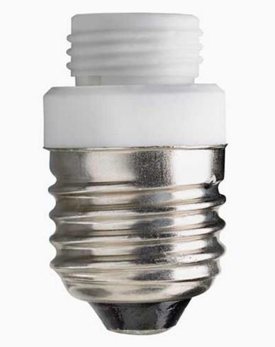 Lampsockel/adapter porslin, för PAR glas E27/G9. 6516