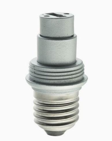 Silberfarged porselen-sokkel E27/G9 MAXI, E27/G9. 6570
