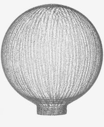 Lamell globformat glas Ø100mm. 6535