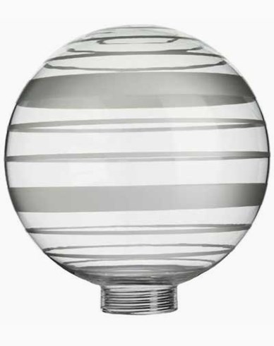 Vitrandig globformat glas Ø100mm. 6536