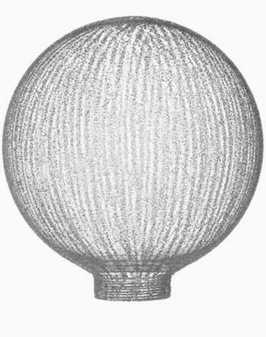 Lamell glob-glas Ø125mm. 6504. Passar endast med MAXI-sockel