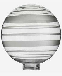 Vitrandigt glob-glas Ø125mm. 6505. Passar endast med MAXI-sockel