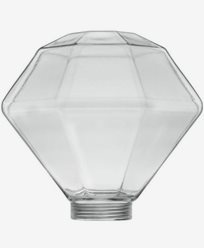 Glass Diamant Ø125mm. 6568. Passer kun med MAXI-sokkel