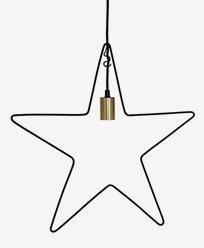 Star Trading Ramsvik stjärna, svart med mässingssockel