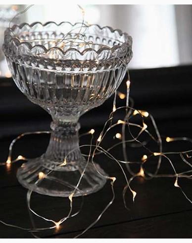 Star Trading String light 40 LED, 390cm, sølv tråd, batteridrevet