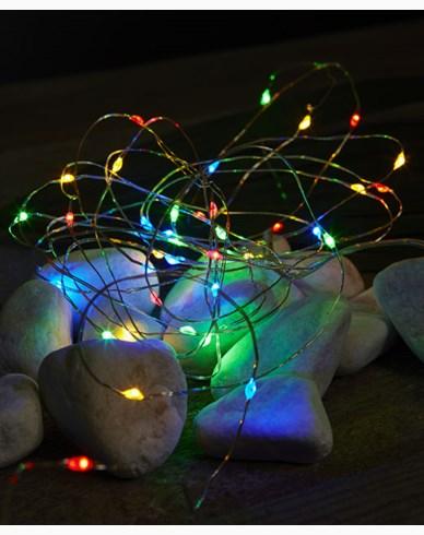 Star Trading Dew Drop Lysslynge 40 LED Multi, batteridrevet