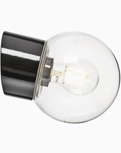 Ifö Electric Classic Globe skrå klart glass Ø150 mm Svart. 6044-510-16