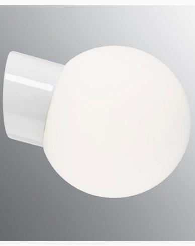 Ifö Electric Classic Globe skrå matt opalisert glass Ø180 mm Hvit. 6045-500-10