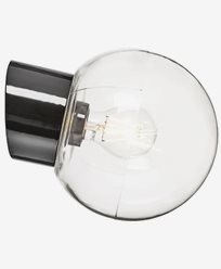 Ifö Electric Classic Globe skrå klart glass Ø180 mm Svart. 6045-510-16
