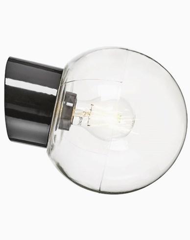 Ifö Electric Classic Glob sned klart glas Ø180 mm Svart. 6045-510-16