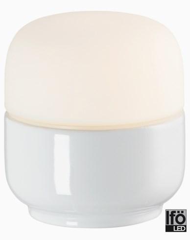 Ifö Electric Ohm 100/110mm hvit matt opal IP44 LED 4W/3000 450lm Ra>90. 8301-800-10