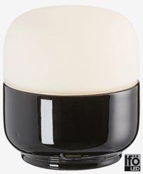 Ifö Electric Ohm 100/110mm svar matt opal IP44 LED 4W/3000 450lm Ra>90. 8301-800-16