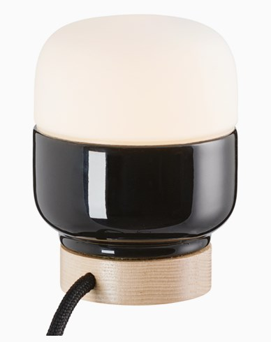 Ifö Electric Ohm Table 100/130 svart matt opal IP20 G9 20W. 2m. kabel. 8311-200-16