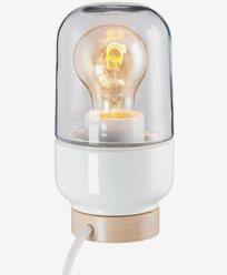 Ifö Electric Ohm Table 100/190 hvit klar glass IP20 E27 40W 2m kabel. 8312-510-10
