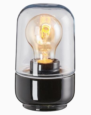 Ifö Electric Ohm 100 höjd 170 mm svart klarglas IP44 E27 40W. 8341-510-16