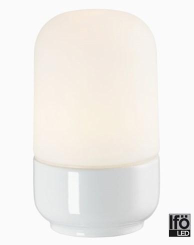 Ifö Electric Ohm 100/170mm hvit matt opal IP44 LED 8W/3000 800lm Ra>90. 8341-800-10