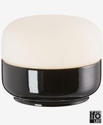 Ifö Electric Ohm 140/115 svart matt opal IP44 LED 10W/3000 Ra>90. 8351-800-16