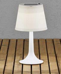 Konstsmide Assisi bordlampa solcell LED vit. 7109-202
