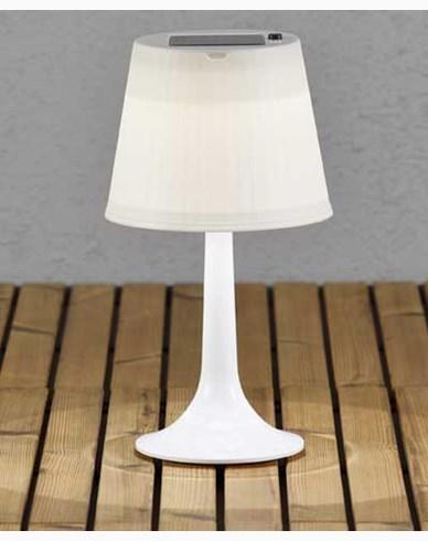 Konstsmide Assisi bordlampe solcelle LED hvit. 7109-202