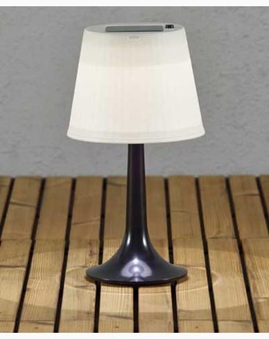 Konstsmide Assisi bordlampa solcell LED svart. 7109-752
