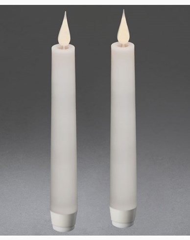 Konstsmide Vaxljus LED 2-pack. Vit. 3D. Fjärrkontroll. 1872-210