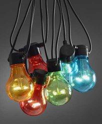 Konstsmide. Lyslenker 10 st fargede LED-pærer. IP44. 2378-500. Ikke koblingsbare