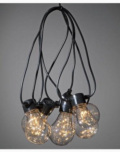 Konstsmide Ljusslinga E27 10 LED-lampor amber 24V/IP44. 2375-800