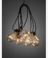 Konstsmide Ljusslinga E27 20 LED-lampor amber 24V/IP44. 2379-800