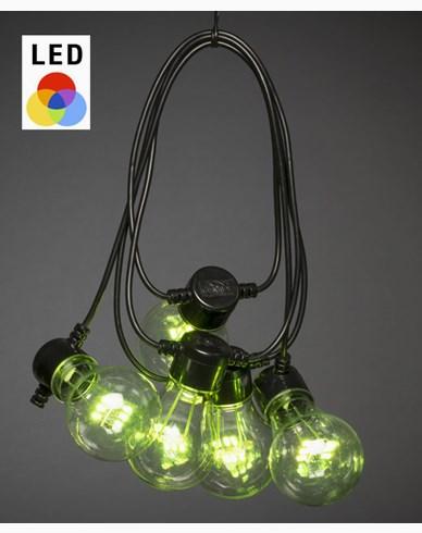 Konstsmide Ljusslingor 10 skiftande RGB LEDlampor 5V/IP44. 2381-500