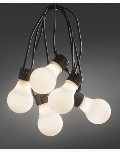 Konstsmide. Lyslenker E27 10X0,48W varmhvite, opalisert LED-pærer. IP44/trafo. 2388-100. Ikke koblingsbare