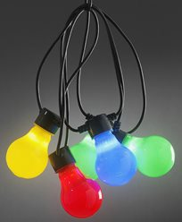 Konstsmide. Lyslenker E27 10X0,48W fargede LED-pærer. IP44/trafo. 2388-520