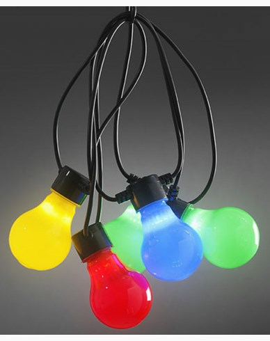 Konstsmide. Ljusslinga 10X0,48W färgade LED-lampor. IP44/trafo. 2388-520