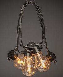 Konstsmide Ljusslinga 10 utbytbara Amberfärgade LEDlampor IP44. 2391-800