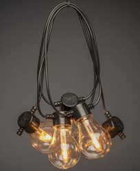 Konstsmide Lyslenke 10 amber utskiftbare LEDpærer 24V/IP44. 2391-800