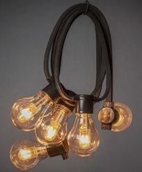 Konstsmide Lyslenke 10 amber utskiftbare LEDpærer 24V/IP44. 2392-800