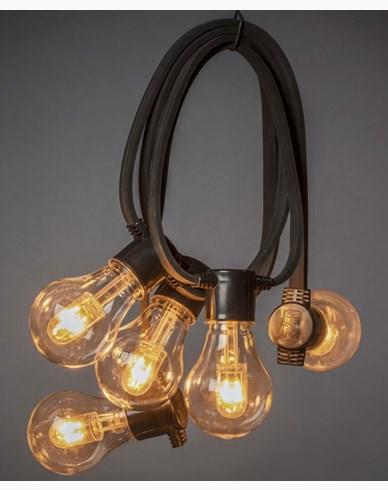 Konstsmide Ljusslinga 10 amber utbytbara LEDlampor 24V/IP44. 2392-800