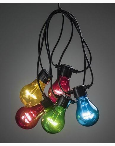 Konstsmide. Startset. Lyslenker 10 stykker fargede LED-pærer. 2396-500