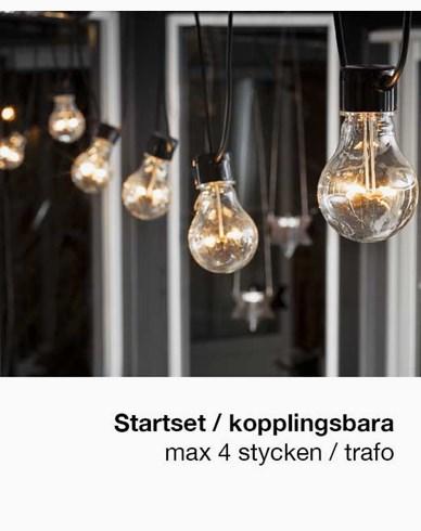 Konstsmide Startset Ljusslinga E27 10 LED-lampor amber 24V/IP44