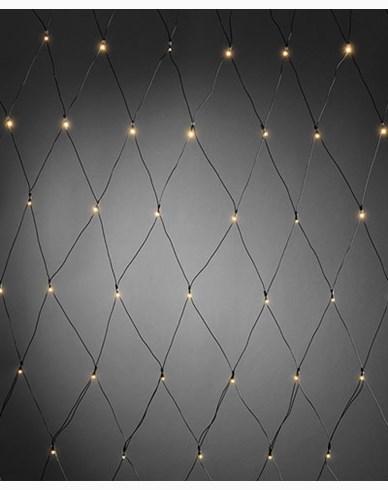 Konstsmide Batteridrevet Lysslynge net 80 varmhvite LED, skumringssensor og timer. Svart
