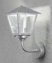 Konstsmide Benu vägglampa upp 1x5W dimbar LED, galvaniserad. 440-320