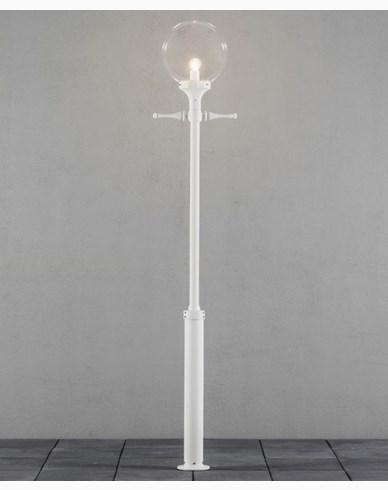 Konstsmide Orion stolplykta E27 vit ink stolpe Max 100W. 468-250